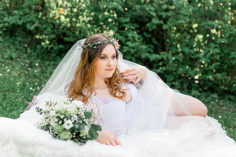 Bridal Boudoir beim Hochzeitsshooting